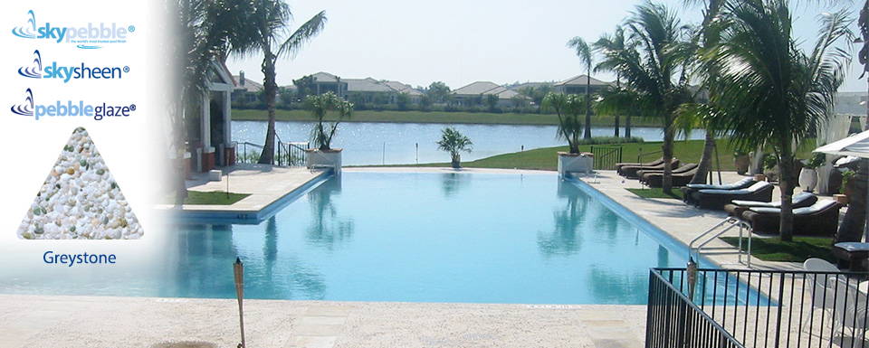 Inground pool with Skypebble® finish Greystone