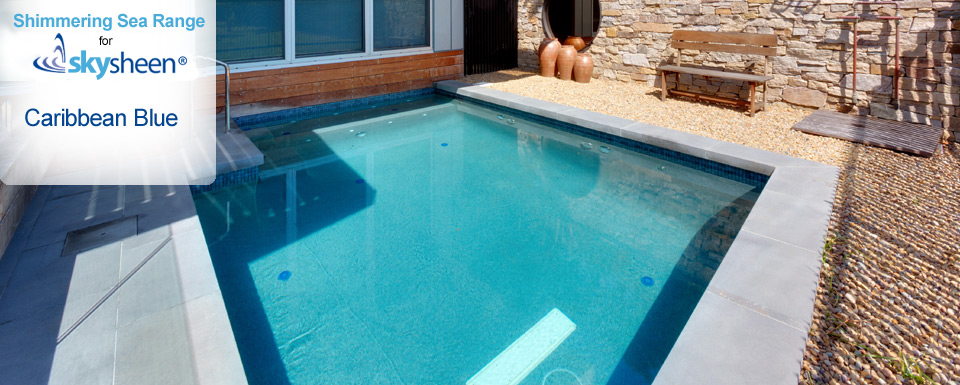 Pebble Swimming Pool with Caribbean Blue finish