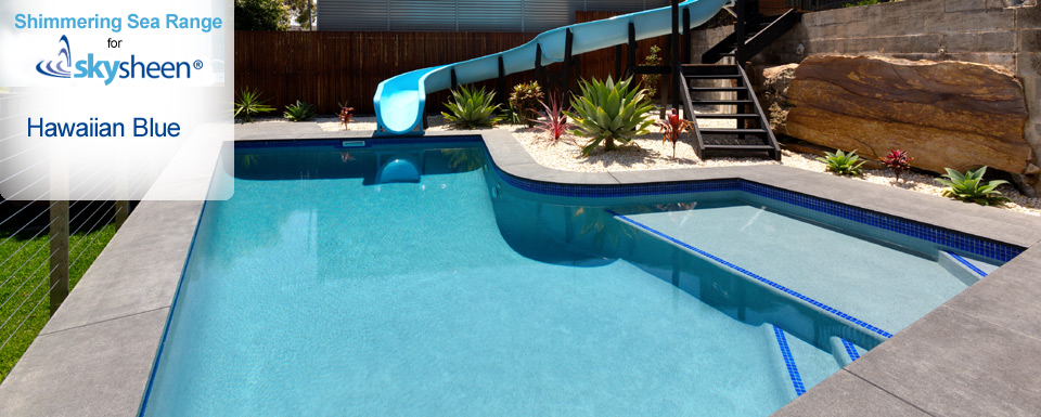 Pebble Swimming Pool with Hawaiian Blue finish