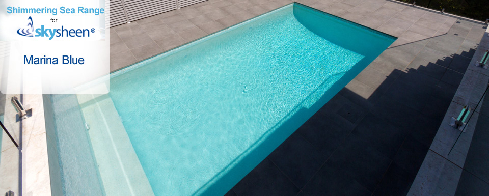 Pebble Swimming Pool with Marina Blue finish