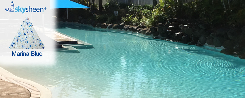 Commercial swimming pool with Skypebble®'s Marina Blue Pebblesheen® interior