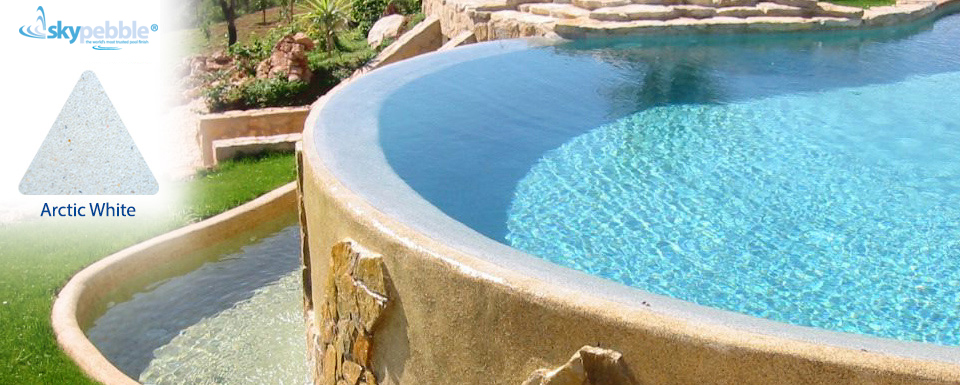 Pool designs with Skypebble®'s Arctic White interior