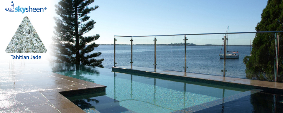 Beautiful pool design with Skypebble® finish Tahitian Jade