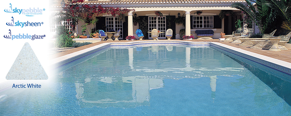 Classic pool designs with Arctic White Skypebble® interior