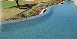 Skypebble® featured pool finish with ebony Pebblesheen®