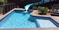 Hawaiian Blue Skypebble® swimming pool finish