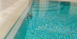 Swimming pool resurface with Skypebble finish