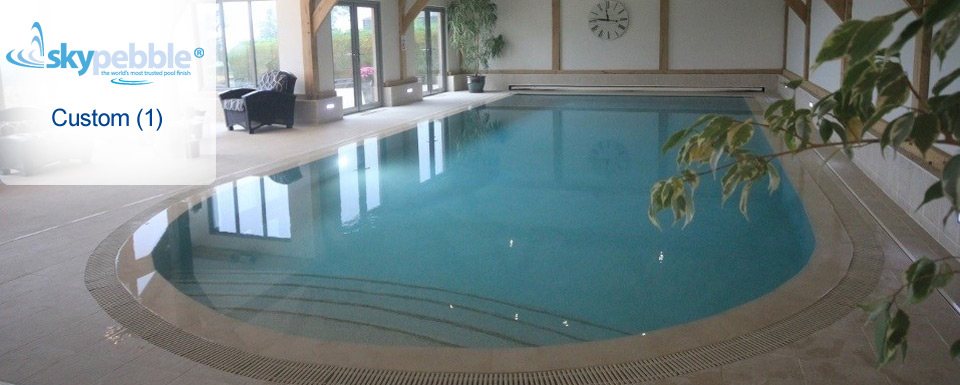 Indoor Pool with Skypebble® Custom Pebble Finnish