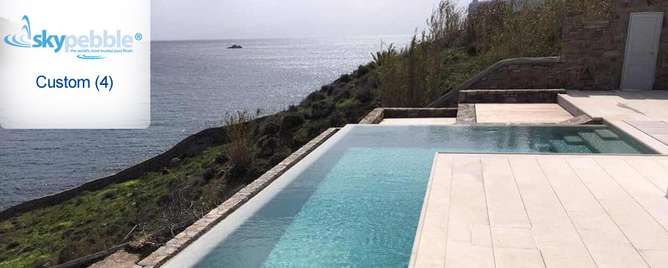 Ocean View Pool with Skypebble® Custom Pebble Finish