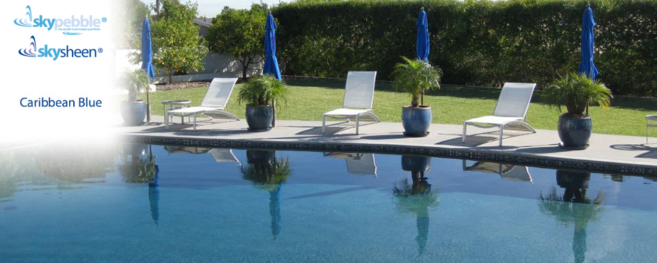 Resort swimming pool with Caribbean Blue finish
