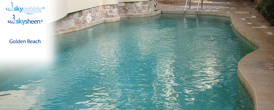 Backyard pool designs with Golden Beach interior finish
